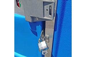 portable restroom locks